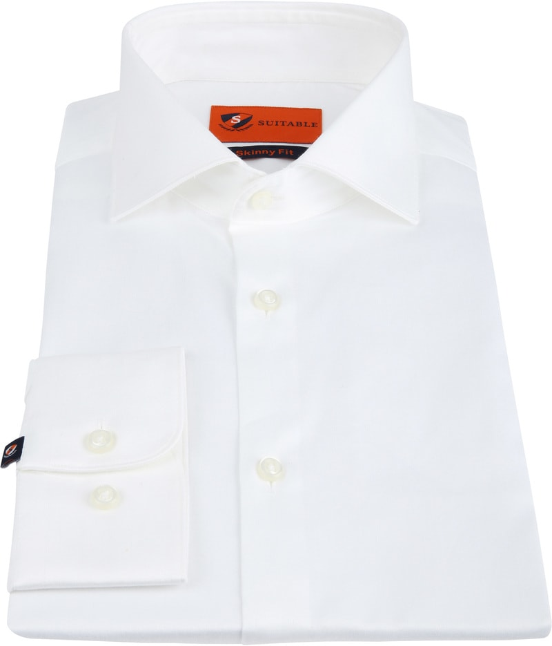 Suitable Skinny-Fit Shirt White photo 2
