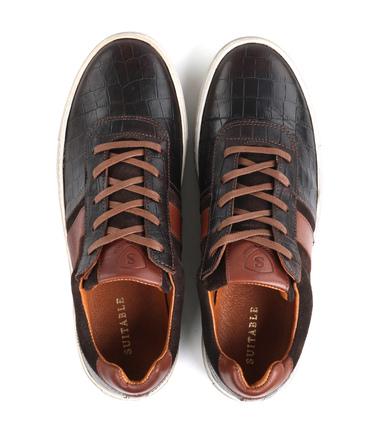 Suitable Sneaker Croco Bruin foto 4