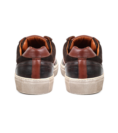 Suitable Sneaker Croco Bruin foto 5