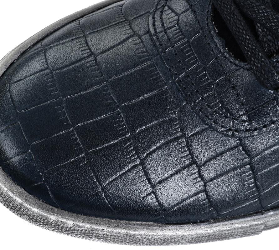 Suitable Sneaker Croco Navy foto 3