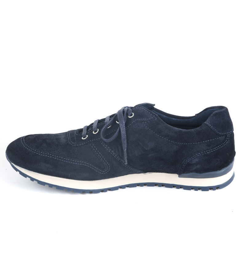Suitable Sneaker Donkerblauw Suede foto 2