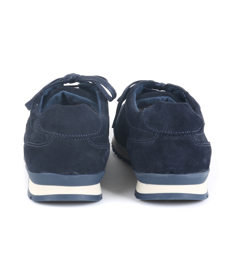 Suitable Sneaker Donkerblauw Suede foto 4