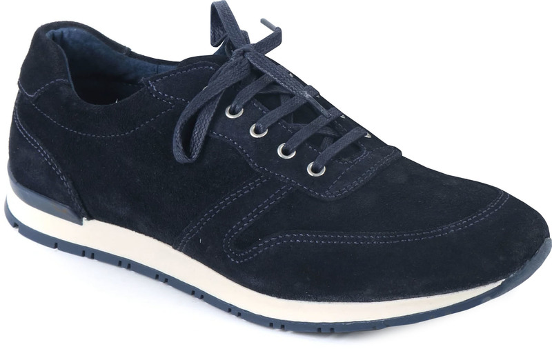 Suitable Sneaker Donkerblauw Suede foto 0