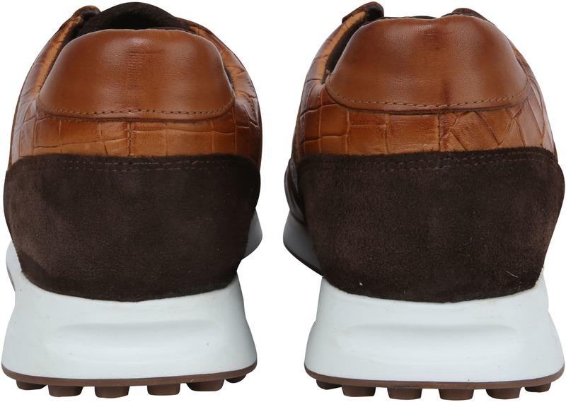 Suitable Sneaker Run Croco Bruin foto 2