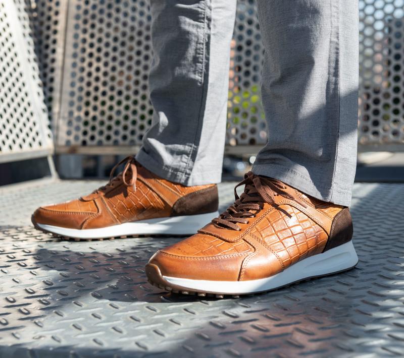 Suitable Sneaker Run Croco Bruin foto 5