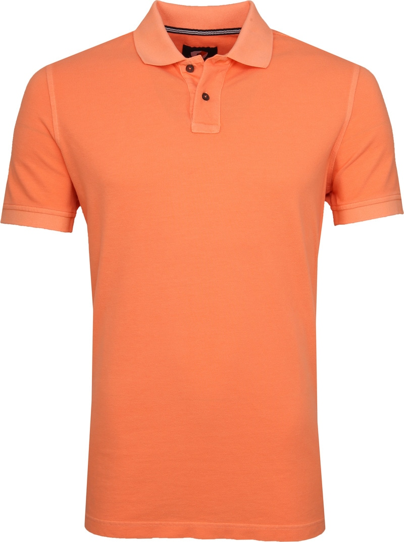 Suitable Stone Wash Poloshirt Orange Foto 0