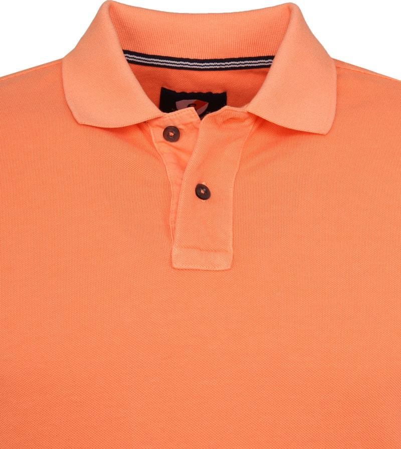 Suitable Stone Wash Poloshirt Orange Foto 1