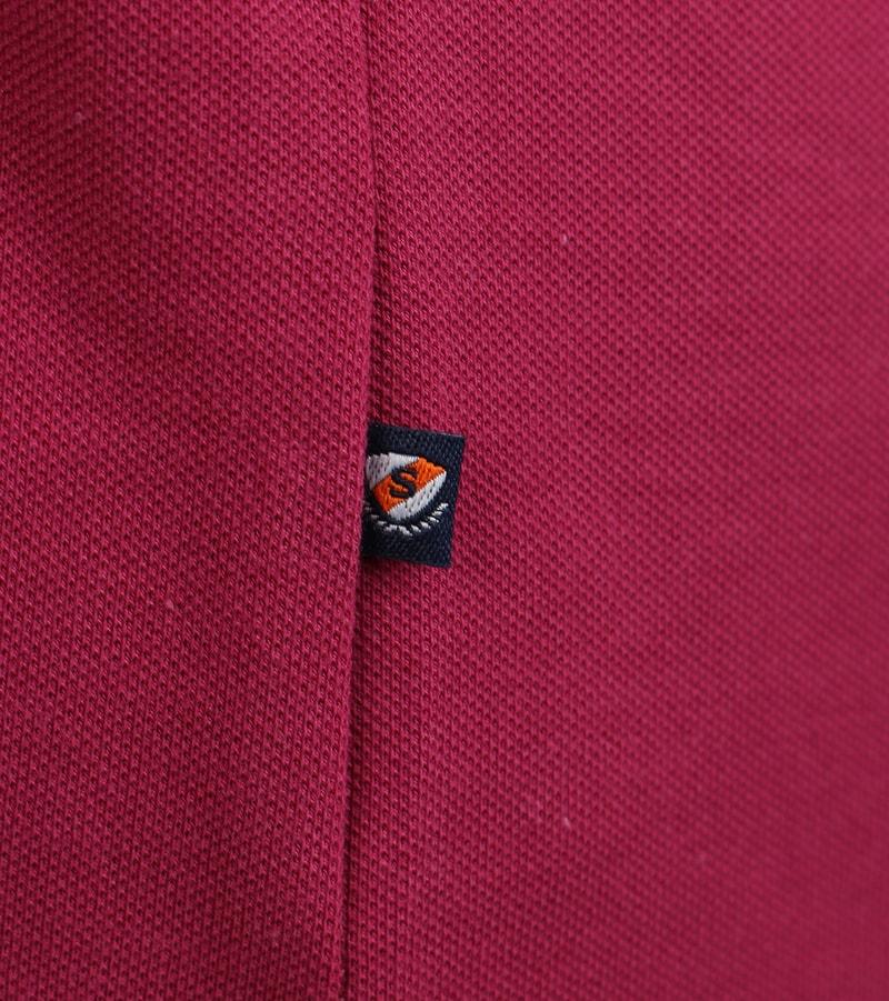 Detail Suitable Stretch Polo Bordeaux Rood