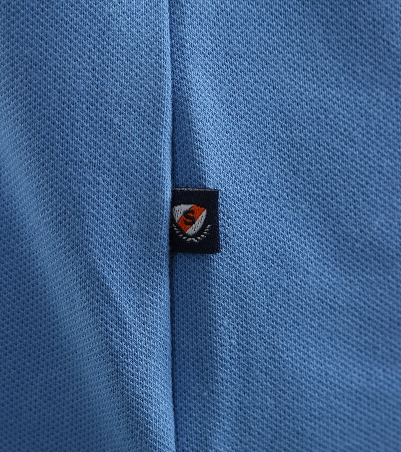 Detail Suitable Stretch Polo Mid Blue