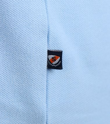 Detail Suitable Stretch Polo Sky Blue