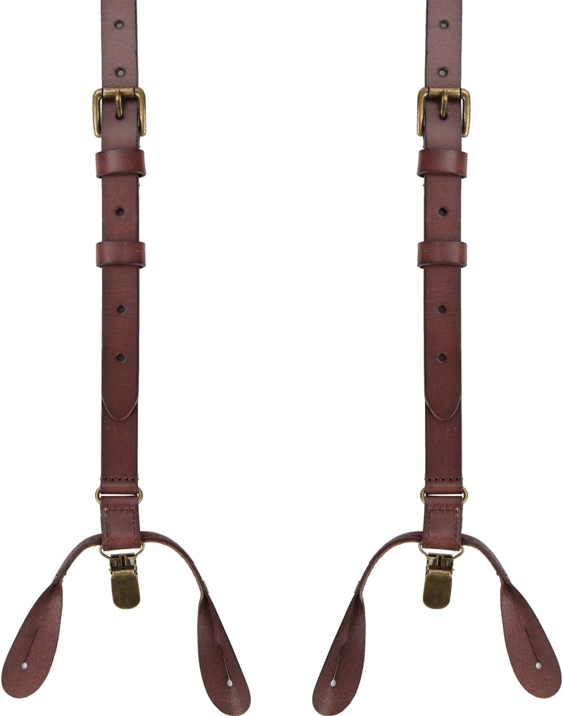 Suitable Suspenders Brown Leather photo 0