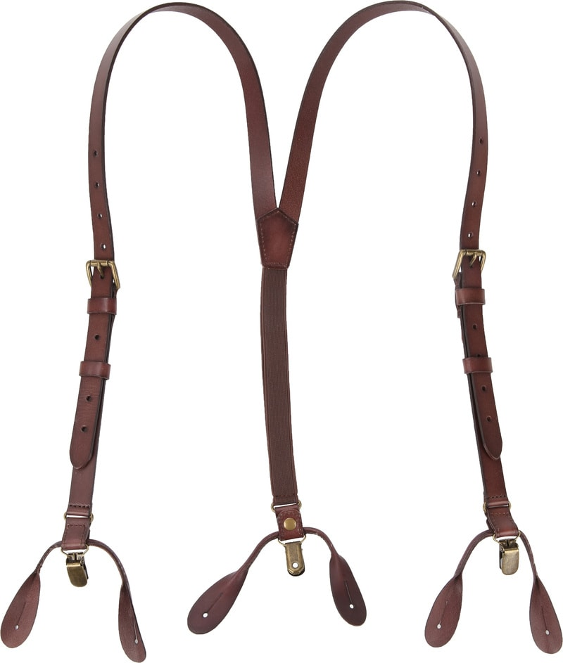 Suitable Suspenders Brown Leather photo 1