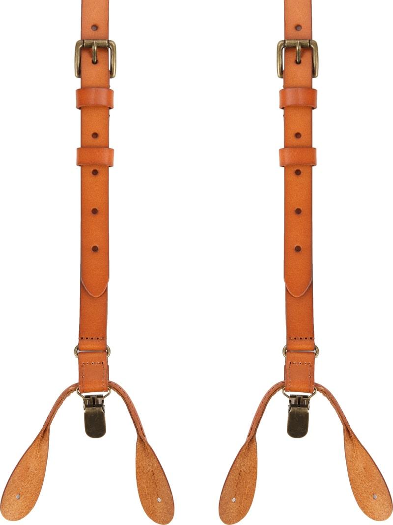 Suitable Suspenders Cognac Leather photo 0