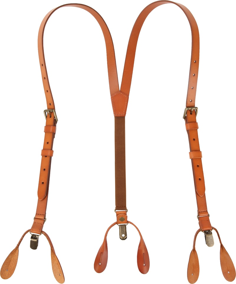 Suitable Suspenders Cognac Leather photo 1