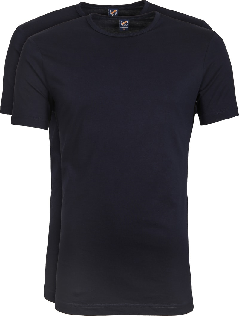 Suitable T-shirt 2-Pack O-Neck Navy photo 0