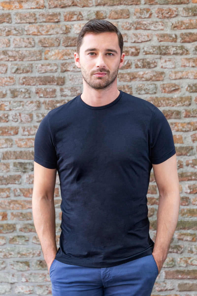 Suitable T-shirt 2-Pack O-Neck Navy photo 1