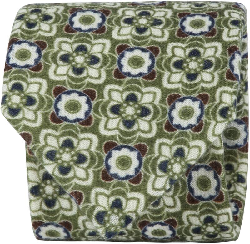 Suitable Tie Silk Green Dessin photo 0