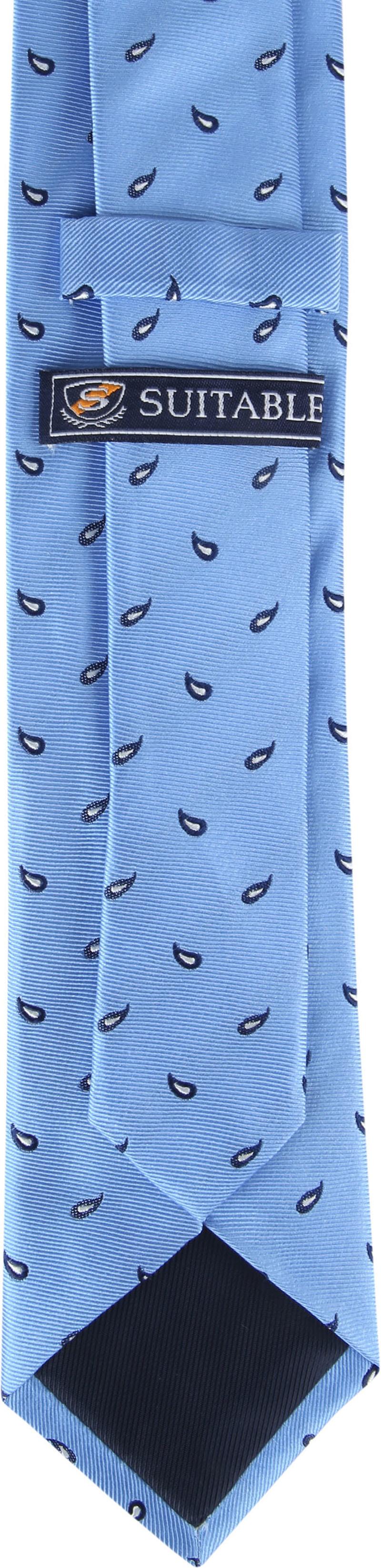 Suitable Tie Twill Paisley Blue photo 2