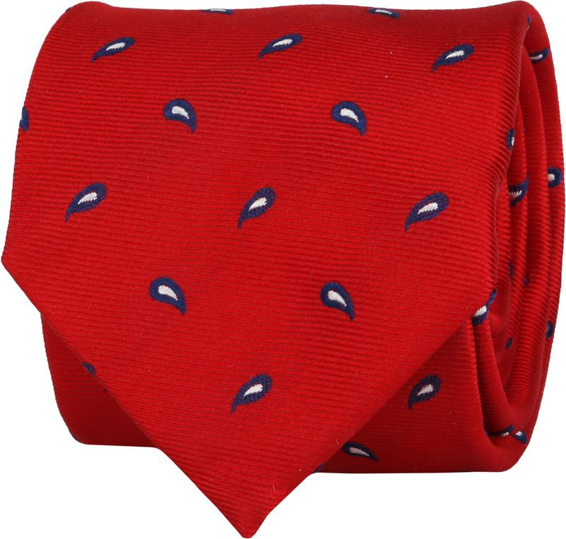 Suitable Tie Twill Paisley Red photo 0
