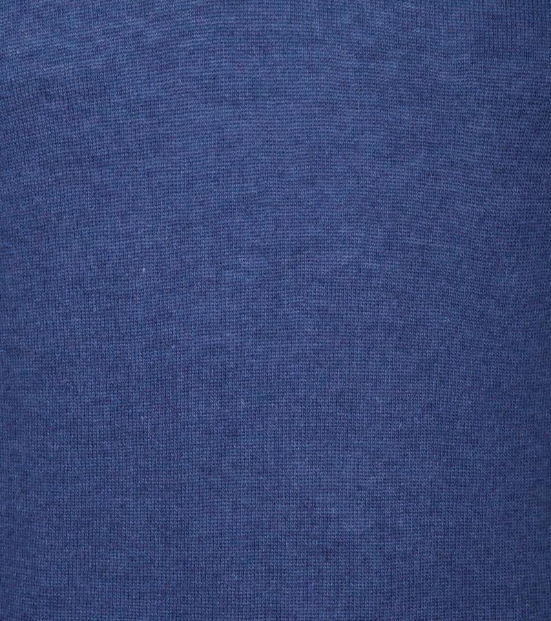 Suitable V-Ausschnitt Lammwolle Blau Foto 3
