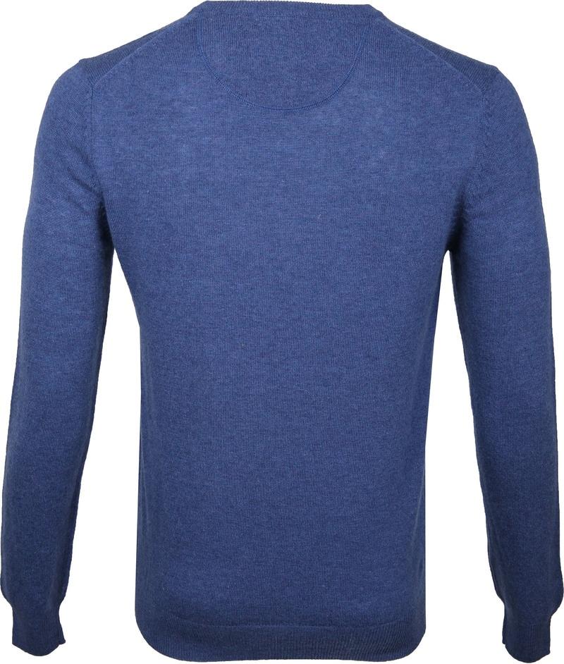 Suitable V-Ausschnitt Lammwolle Blau Foto 4