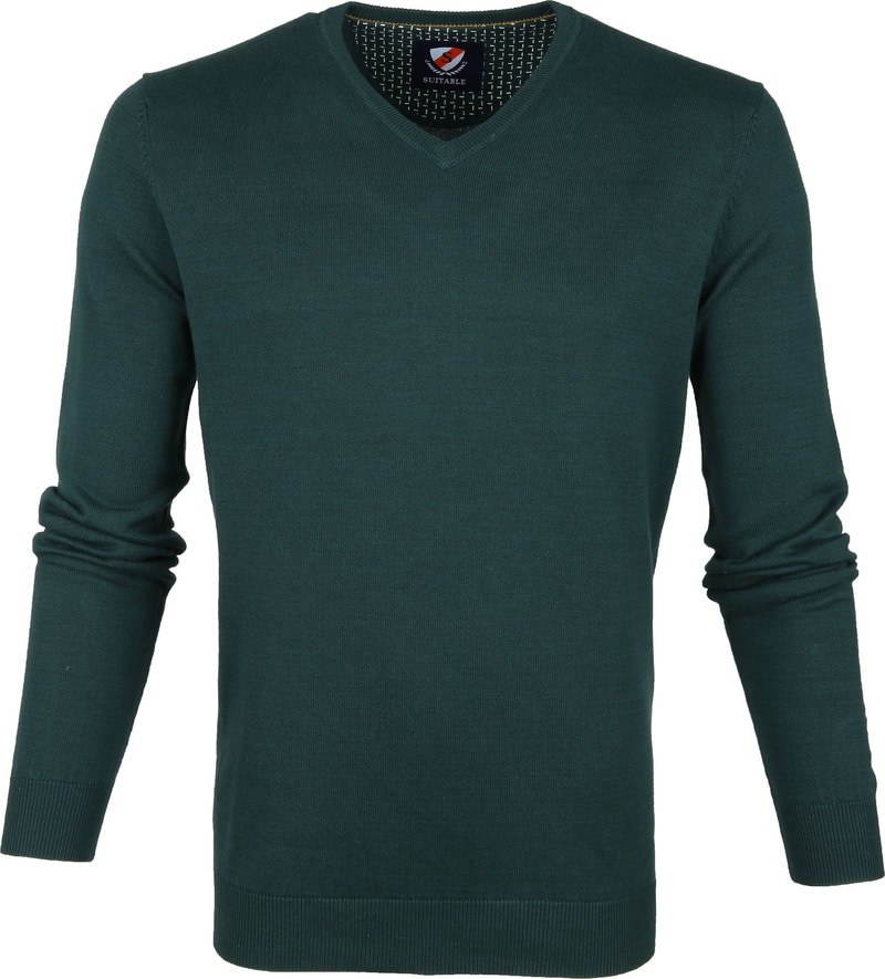 Suitable Vini Pullover Dark Green photo 0