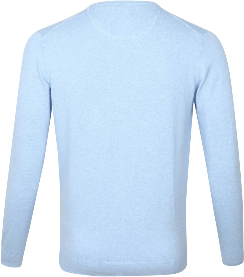 Suitable Vini Pullover V-Hals Lichtblauw - Blauw maat 4XL
