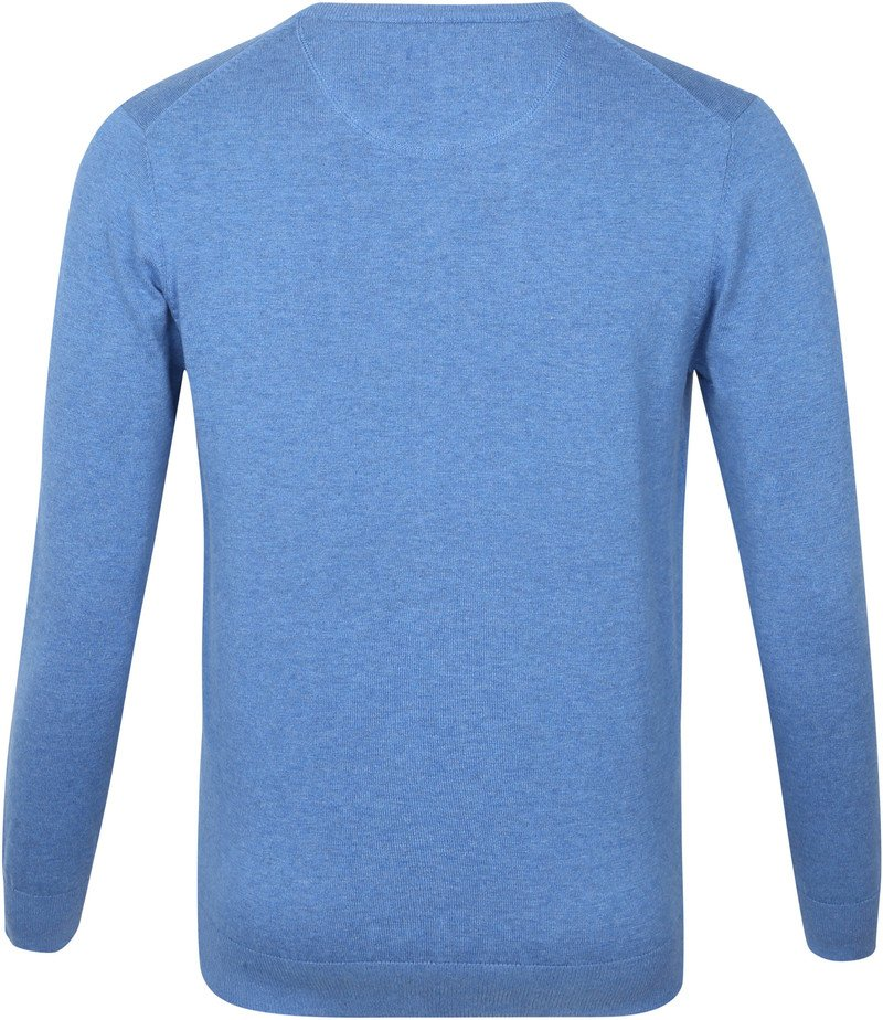 Suitable Vini Pullover V-Hals Mid Blue