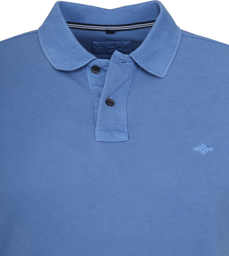 Suitable Vintage Poloshirt Indigo Foto 1