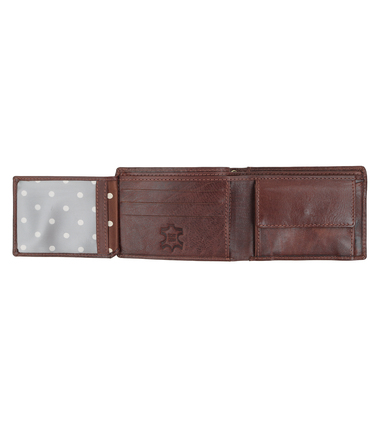 Suitable Wallet Dax Brown Leather - Skim Proof photo 1