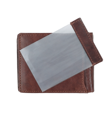 Suitable Wallet Dax Brown Leather - Skim Proof photo 5