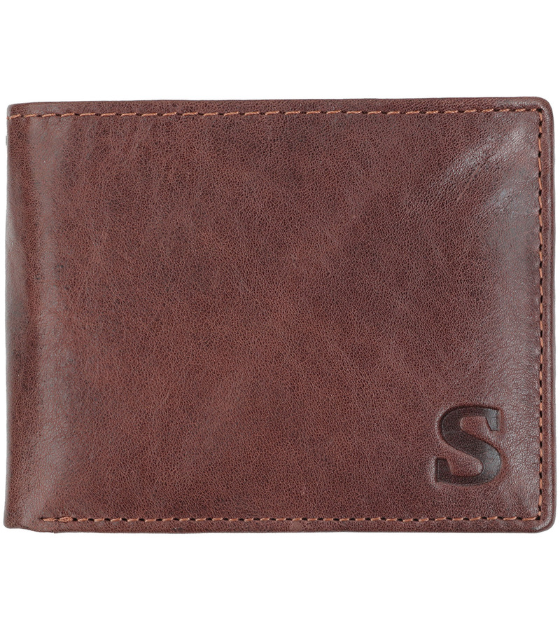 Suitable Wallet Dax Brown Leather - Skim Proof photo 0