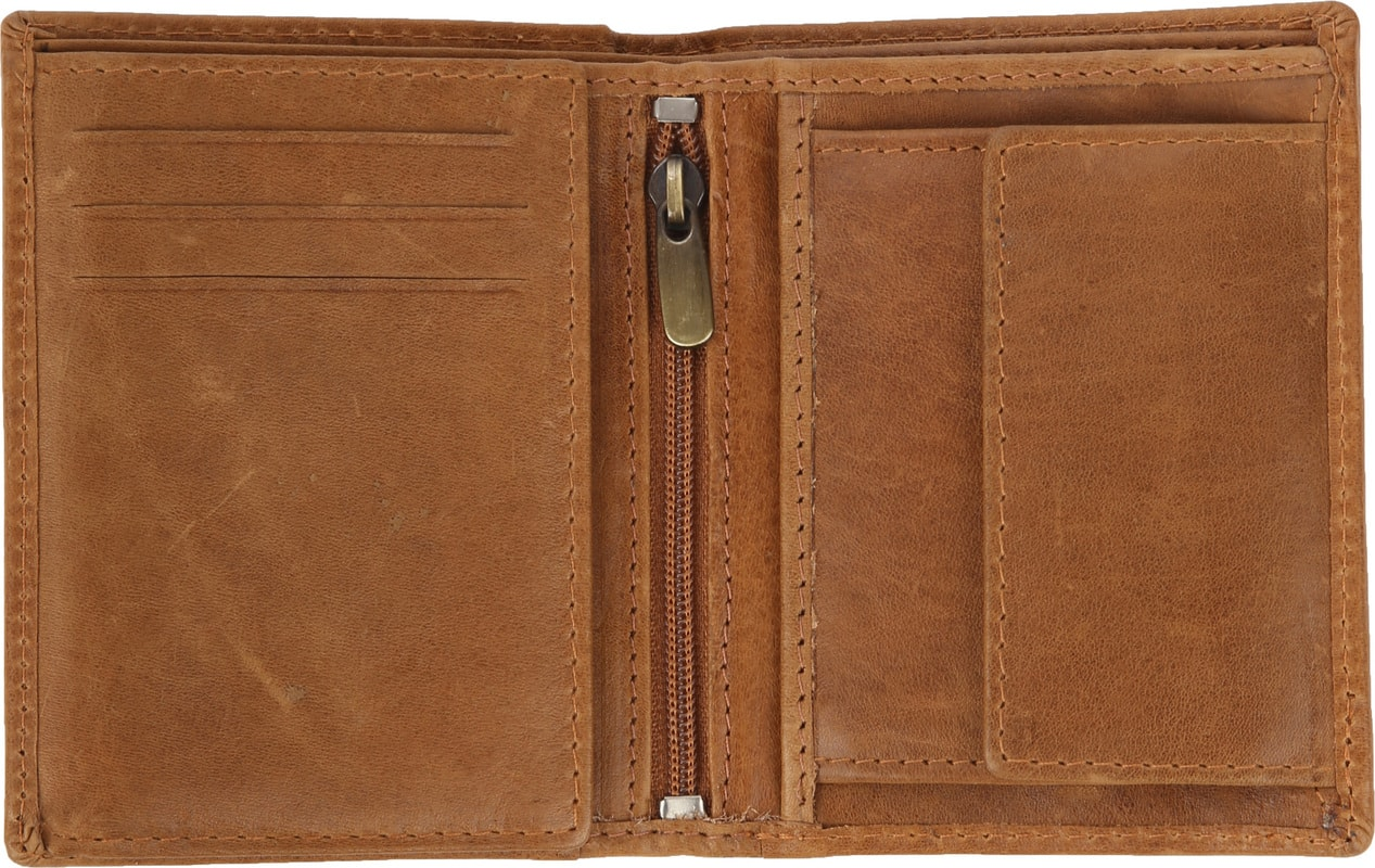 Suitable Wallet Nikkei Light Brown Leather - Skim Proof photo 1