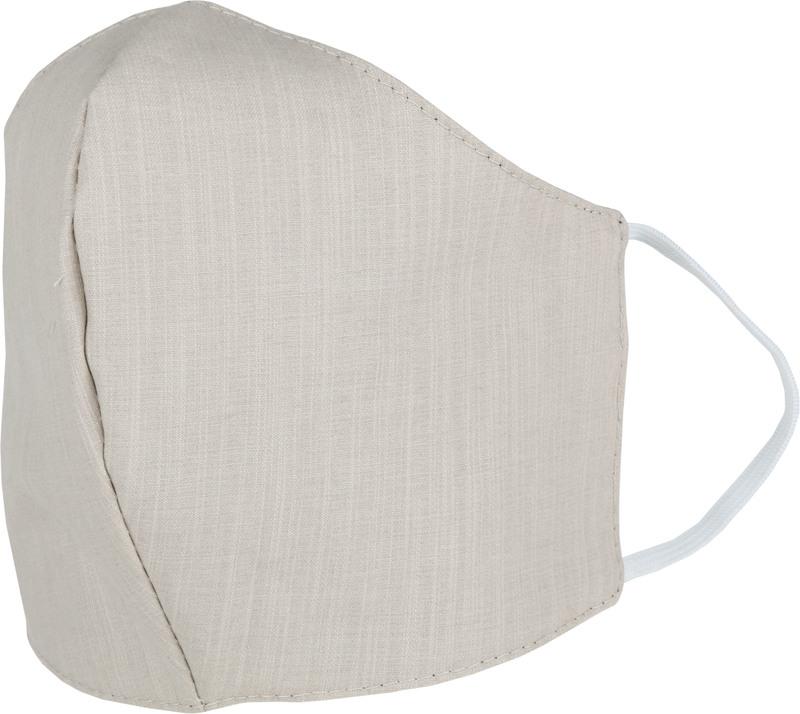 Suitable Waschbar Mundkappe Beige Schwarz Foto 1