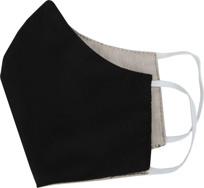 Suitable Waschbar Mundkappe Beige Schwarz Foto 0