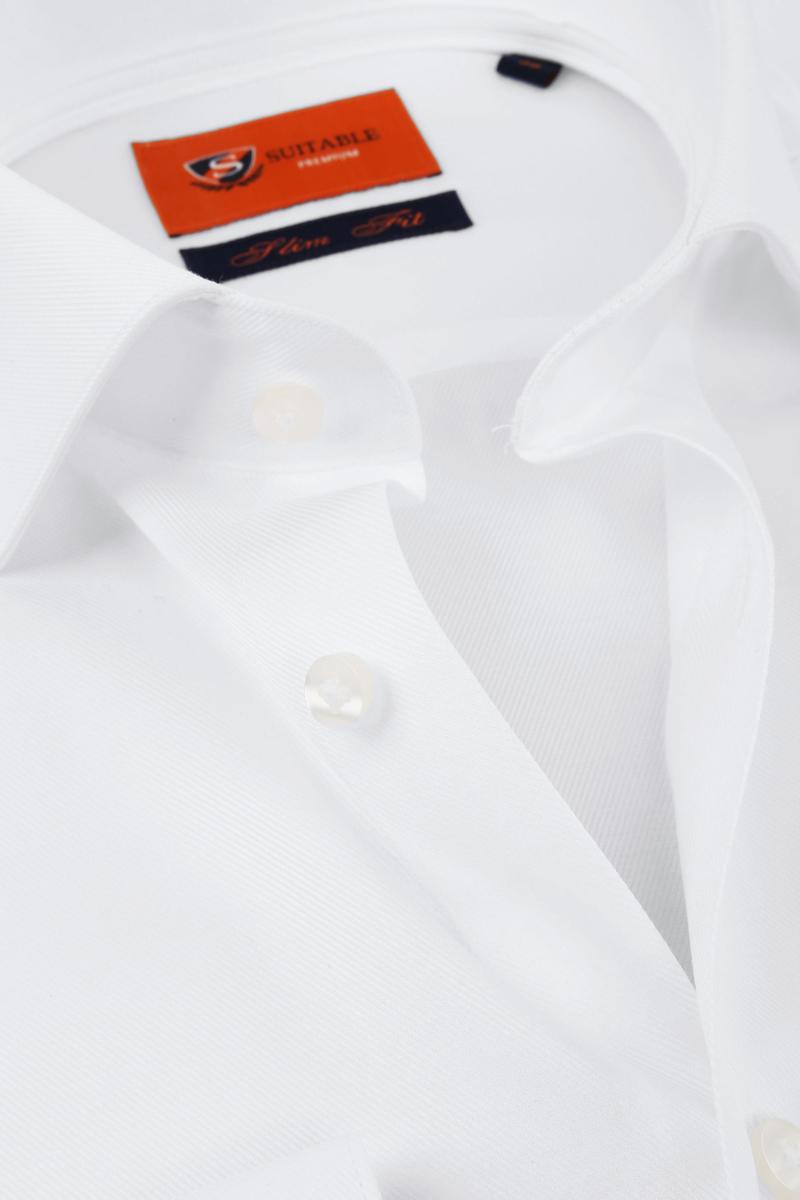 Suitable Wit Overhemd Slim Fit DR-01 foto 1