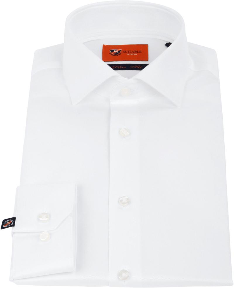 Suitable Wit Overhemd Slim Fit DR-01 foto 2