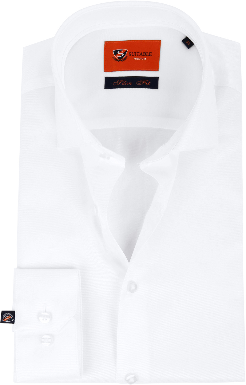 Suitable Wit Overhemd Slim Fit DR-01 foto 0
