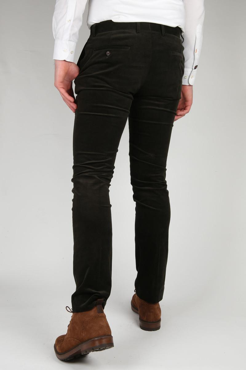 Suitable Xavi Pantalon Donkergroen
