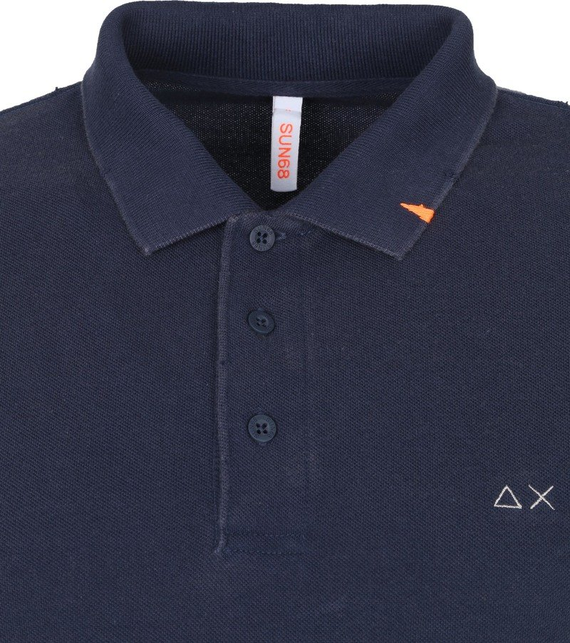 Sun68 Polo Vintage Solid Donkerblauw