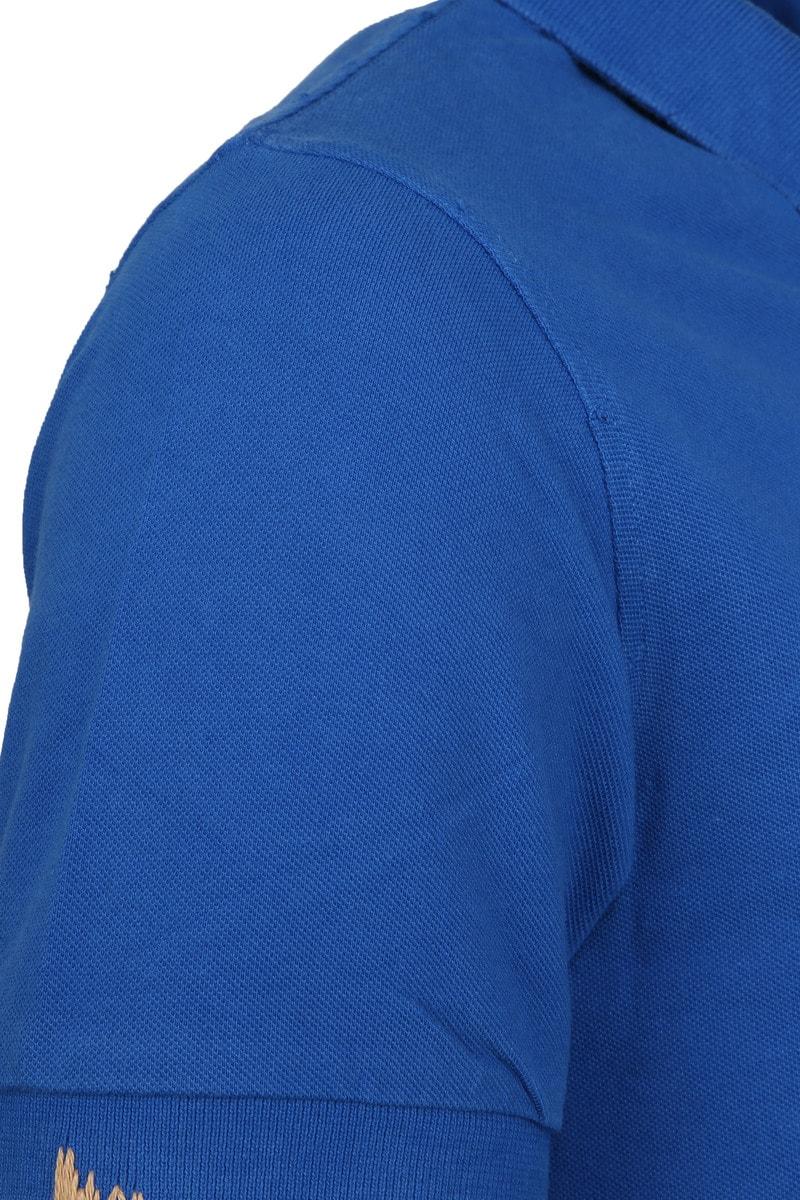 Sun68 Polo Vintage Solid Royal Blue foto 2