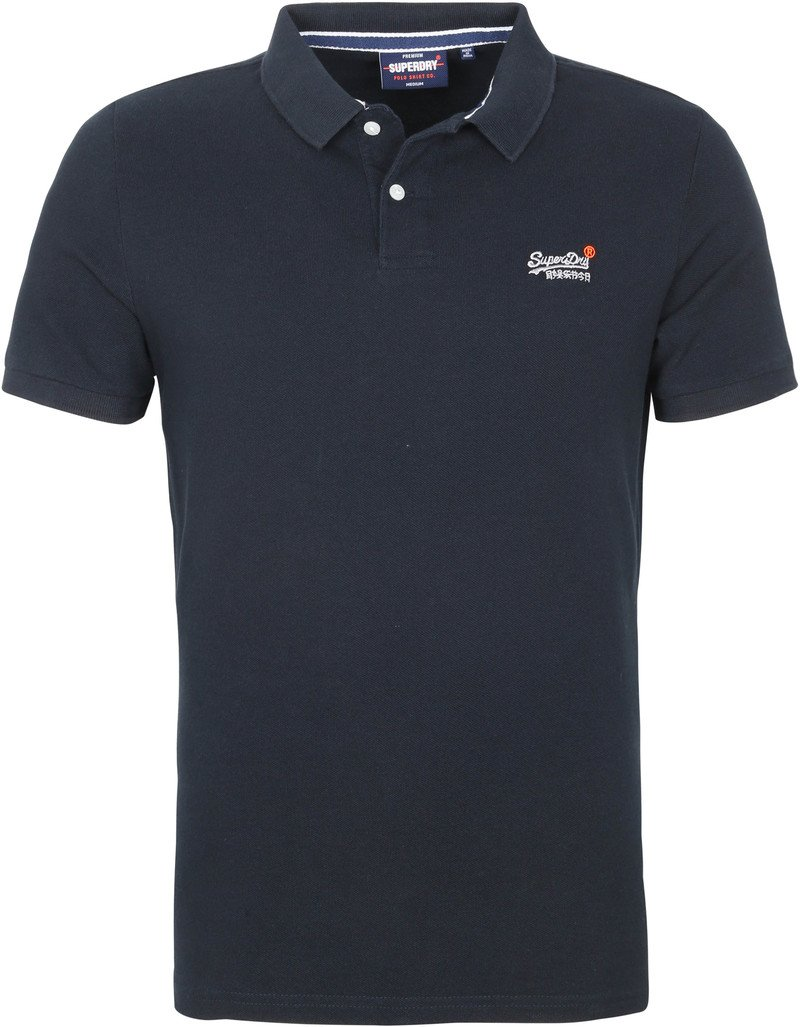 Superdry Classic Pique Polo Donkerblauw