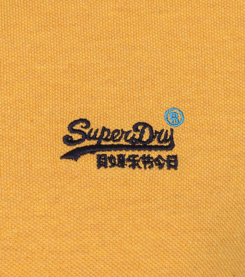 Superdry Classic Pique Polo Okergeel - Geel maat XL