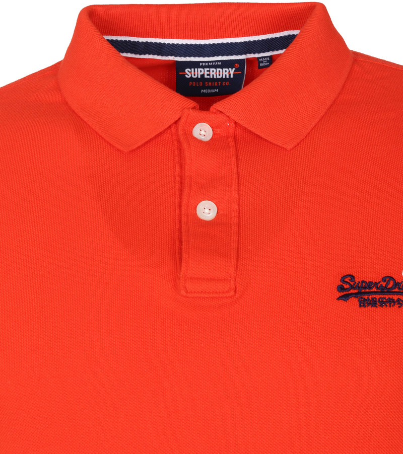 Superdry Classic Pique Polo Rood