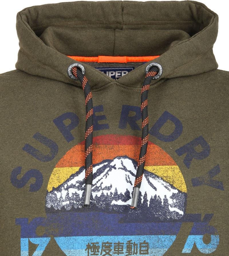 Superdry Mountain Hoodie Donkergroen foto 1