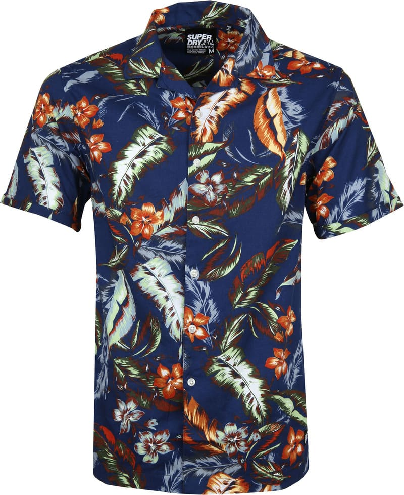 Superdry Overhemd Hawaiian Navy foto 0