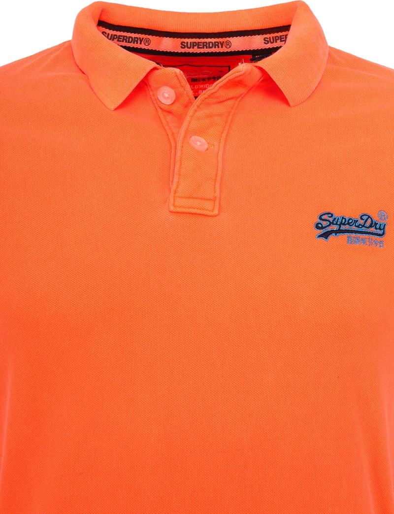 Superdry Polo Fluor Oranje foto 2
