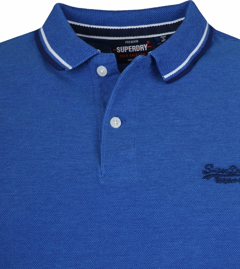 Superdry Polo Poolside Middenblauw foto 1