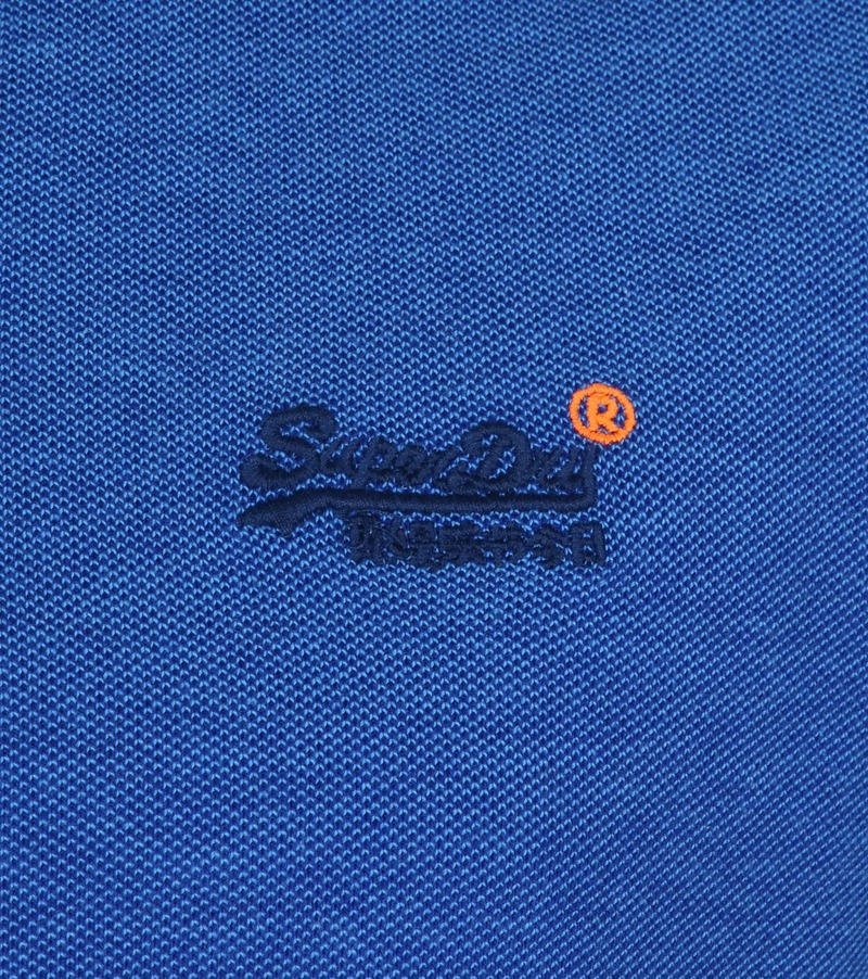Superdry Polo Poolside Middenblauw foto 2