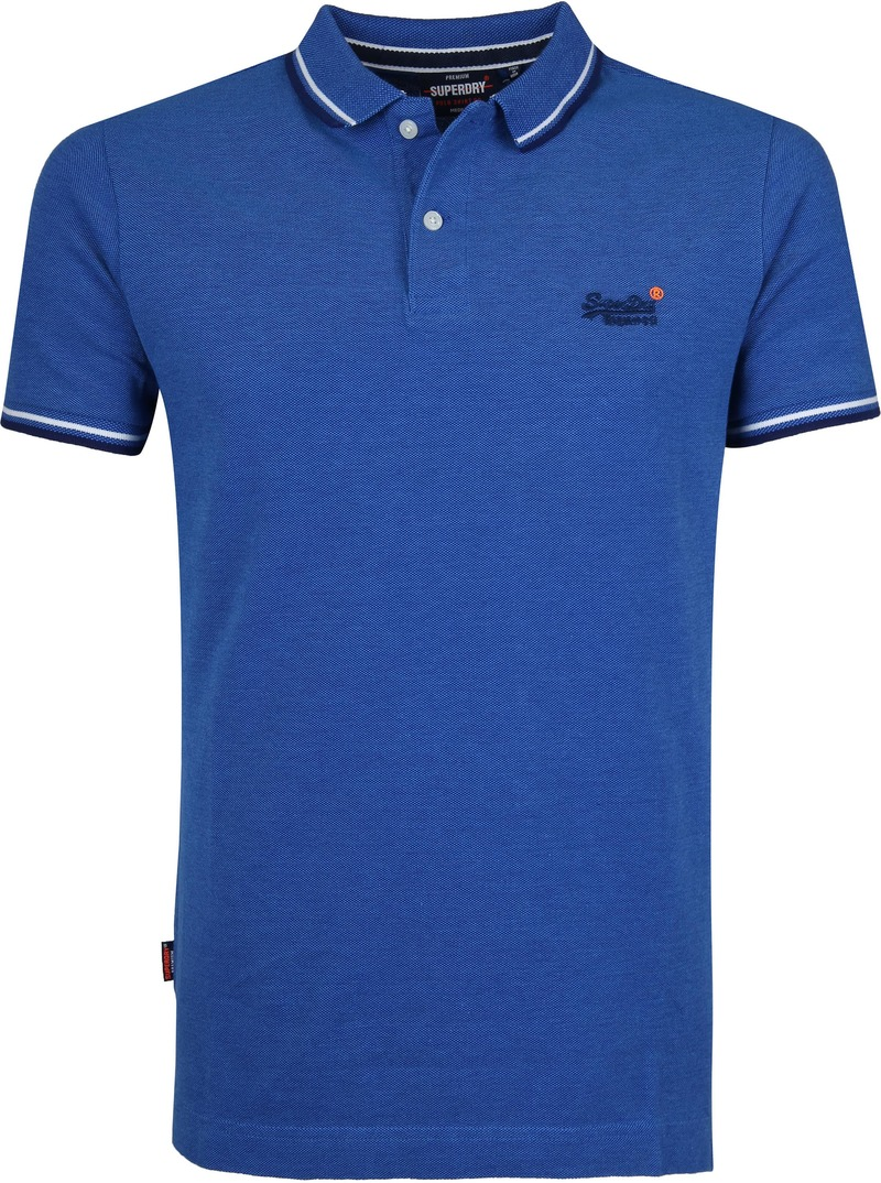 Superdry Polo Poolside Middenblauw foto 0